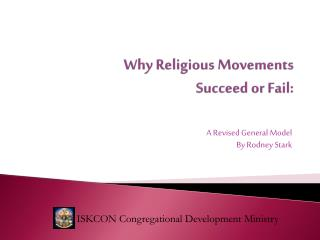 Why Religious Movements  Succeed  or Fail: