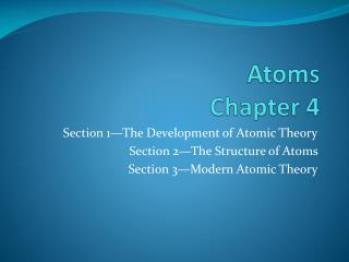 Atoms  Chapter 4