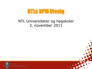 NTLs NPM Utvalg