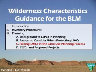 Planning –  LUP  Process