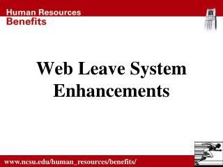 Web Leave System  Enhancements