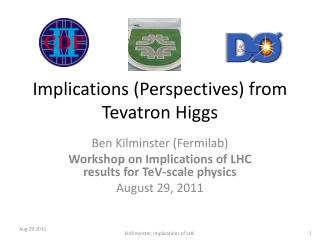 Implications (P erspectives)  from  Tevatron  Higgs