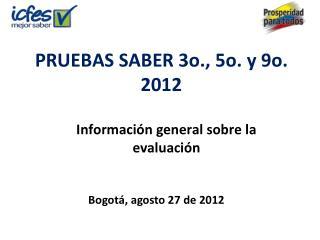 PRUEBAS SABER 3o., 5o. y 9o. 2012