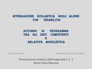 INTEGRAZIONE    SCOLASTICA    DEGLI   ALUNNI      CON       DISABILITA'