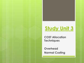 Study Unit 3