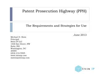 Patent Prosecution Highway (PPH)
