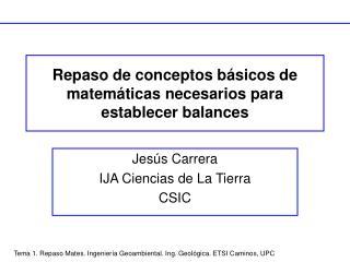 Repaso de conceptos b sicos de matem ticas necesarios para establecer balances
