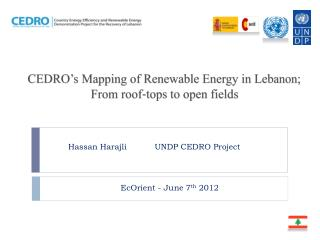 CEDRO's Mapping of Renewable Energy in Lebanon;  From  roof‐tops to open fields