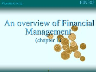 An overview of Financial Management (chapter 1)