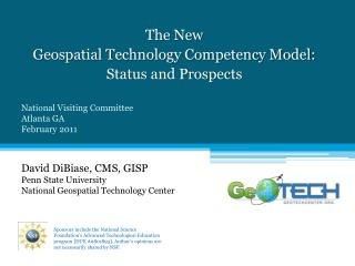The New Geospatial Technology Competency Model:  Status and Prospects