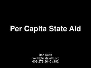 Per Capita State Aid