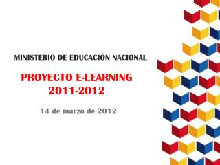 PROYECTO E-LEARNING  2011-2012