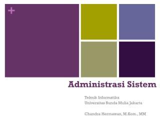 Administrasi Sistem