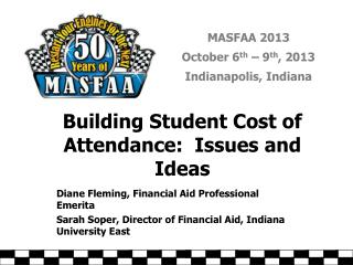 Building Student Cost of Attendance: Issues and Ideas