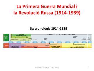 La Primera Guerra Mundial i la Revolució Russa  (1914-1939)