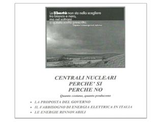 IL CONSUMO  DI  ENERGIA ELETTRICA IN ITALIA E' CIRCA IL 20% DELL'ENERGIA TOTALE.