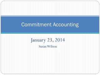 Commitment Accounting