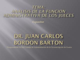 Dr. Juan Carlos Bordón Barton