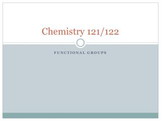 Chemistry  121/122