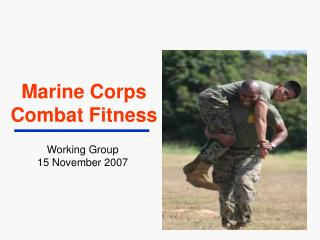 Marine Corps  Combat Fitness
