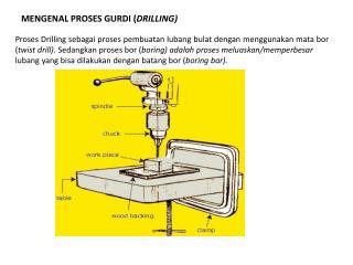 MENGENAL PROSES  GURDI ( DRILLING )