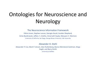 Ontologies  for Neuroscience and Neurology