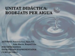 UNITAT DIDÀCTICA:  RODEJATS PER AIGUA