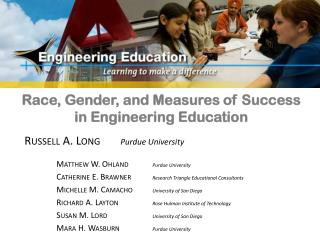 Race, Gender, and Measures of Success in Engineering Education