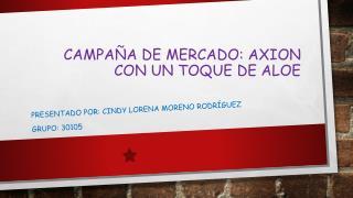 CAMPAÑA DE MERCADO: AXION CON UN TOQUE DE ALOE