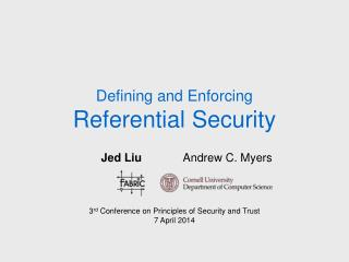 Defining and Enforcing Referential Security