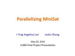 Parallelizing  MiniSat