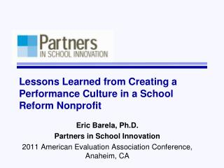 Lessons Learned from Creating a Performance Culture in a School Reform Nonprofit