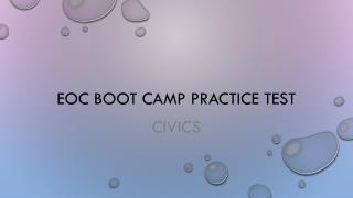 EOC Boot camp practice test