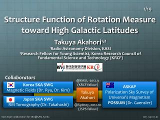 Structure Function of Rotation Measure toward High Galactic Latitudes