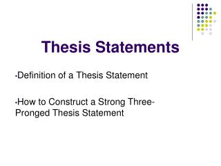 three tests to a persuasive statement