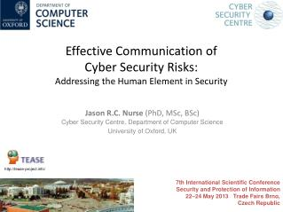 Effective  Communication of  Cyber  Security  Risks: Addressing the Human Element in Security