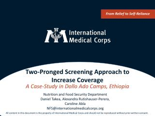 Two-Pronged Screening Approach to Increase Coverage