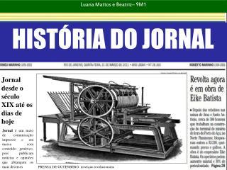 HIST�RIA DO JORNAL