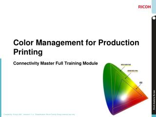 Color Management for Production Printing