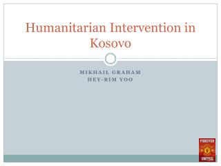 Humanitarian Intervention in Kosovo