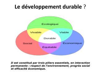 Le développement  durable  ?