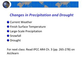 Changes in Precipitation and Drought