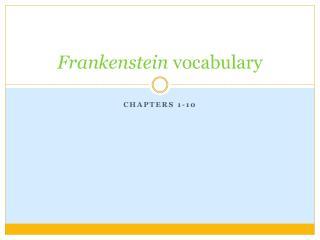 Frankenstein  vocabulary