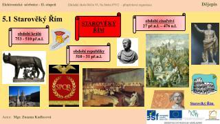 5 .1 Starověký Řím