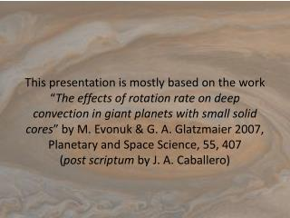 """The Effects of Rotation rate on deep Convection in Giant Planet"""
