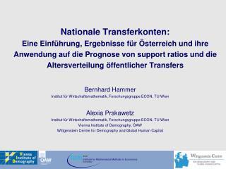 Bernhard Hammer Institut für Wirtschaftsmathematik, Forschungsgruppe ECON, TU Wien