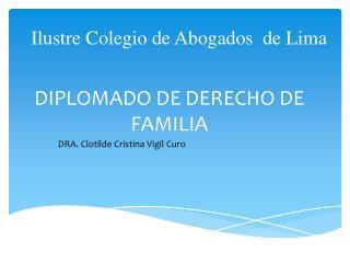 DIPLOMADO DE DERECHO DE FAMILIA