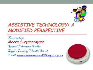 Assistive technology: a modified perspective