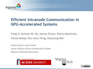 Efficient Intranode Communication in GPU-Accelerated Systems