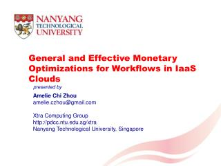 General and Effective Monetary Optimizations for Workflows in  IaaS  Clouds